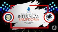 Inter Milan vs Sampdoria (liputan6.com/Abdillah)
