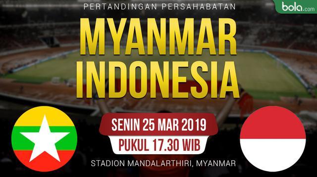 Pertandingan Persahabatan Myanmar Vs Indonesia (Bola.com/Adreanus Titus)