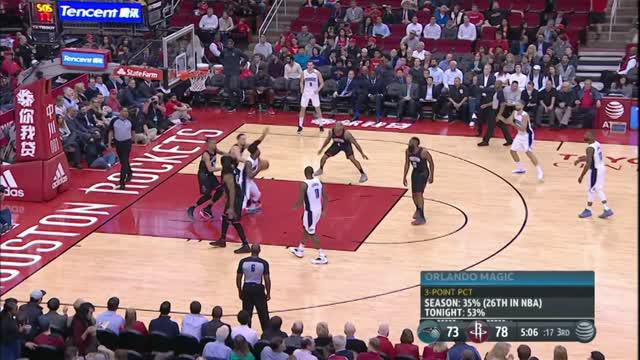 Berita video game recap NBA 2017-2018 antara Houston Rockets melawan Orlando Magic dengan skor 114-107.