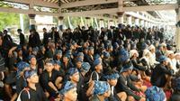 Masyarakat Baduy Kabupaten Lebak, Provinsi Banten, penerima bantuan sosial tunai (BST) dan sembako yang digulirkan Kementerian Sosial saat pandemi Covid-19. (Ist)