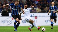 Inter Milan menang 2-1 atas Empoli dalam laga pekan ke-38 Serie A di Giuseppe Meazza, Minggu (26/5/2019) malam waktu setempat. (AFP/Miguel Medina)