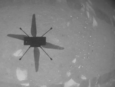 FOTO: NASA Sukses Terbangkan Helikopter Ingenuity di Mars