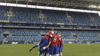 Chile rayakan gol ke gawang Bolivia pada duel grup A Copa America 2021 (AFP)