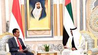 Presiden Joko Widodo dan Putra Mahkota Mohamed Bin Zayed di Istana Kepresidenan Qasr Al Watan di Abu Dhabi, 12 Januari 2020. (Sumber: Biro Pers, Media dan Informasi Sekretariat Presiden)