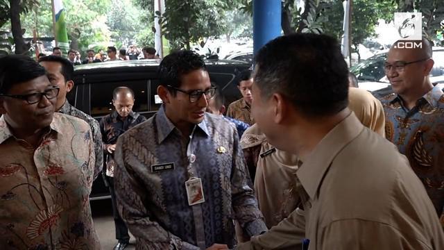 Wakil Gubernur DKI Jakarta, Sandiaga Uno, merencanakan akan memasang 60.000 CCTV di Jakarta.