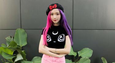 Sherlin Tsu, peserta Likee Superstar Battle Likee dengan Moonton untuk pertandingan Mobile Legends.