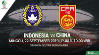 AFC U16 - Indonesia Vs China (Bola.com/Adreanus Titus)