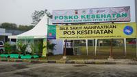 Kementerian Kesehatan bangun dua posko kesehatan di dua lokasi rest area. (Biro Komunikasi dan Pelayanan Masyarakat, Kementerian Kesehatan RI)