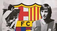 Legenda Barcelona: Johan Cruyff. (Bola.com/Dody Iryawan)