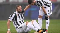 Penyerang Juventus, Gonzalo Higuain. (AFP/MARCO BERTORELLO)