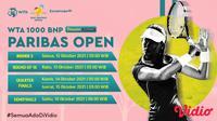 Jadwal dan Live Streaming WTA 1000 BNP Paribas Open Indian Wells di Vidio Pekan Ini. (Sumber : dok. vidio.com)