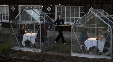 Rumah Makan Kaca Saat Lockdown di Belanda