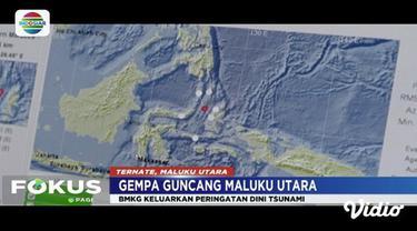 Gempa 7,1 SR guncang Ternate dan Maluku Utara. BMKG Ternate sempat mengeluarkan potensi tsunami.
