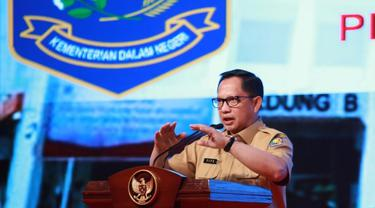 Mendagri Tito Karnavian saat membuka Rapat Koordinasi Bidang Politik dan Pemerintahan Umum dan Deteksi Dini Mendukung Sukses Pilkada Serentak Tahun 2020 di Bali Nusa Dua Convention Center, Kamis (27/02/2020).