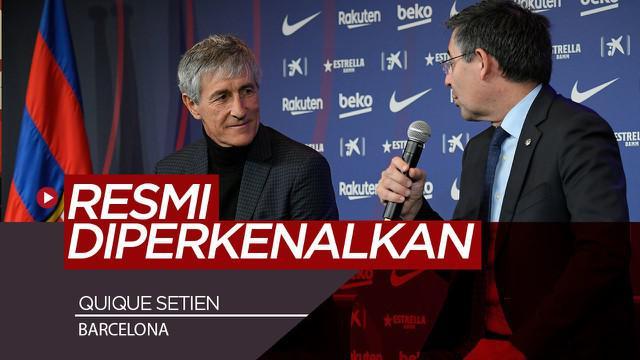 Berita Video Quique Setien Resmi Diperkenalkan Sebagai Pelatih Baru Barcelona