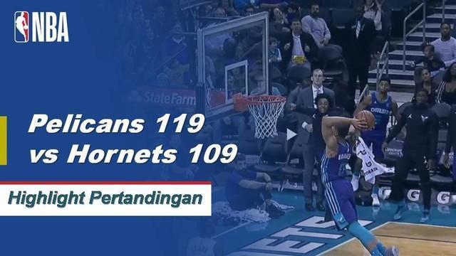 Anthony Davis memimpin New Orleans dengan 36 poin dan 19 rebound dalam kemenangan jalan atas Charlotte.