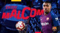 Barcelona mendatangkan Malcom dari Girondins Bordeaux pada Selasa (24/7/2018). (dok. Barcelona)