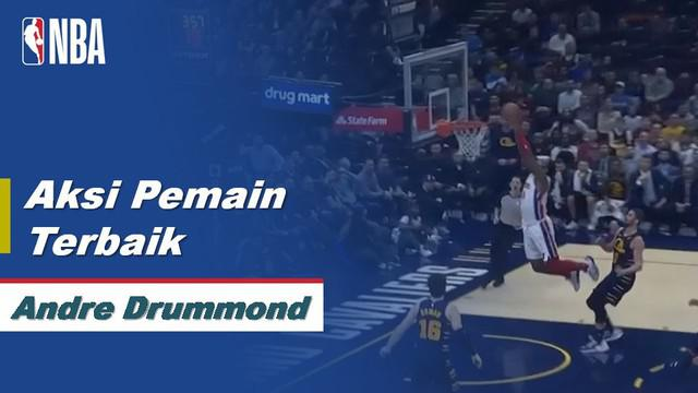 Berita Video Aksi Terbaik Andre Drummond Saat Detroit Pistons Kalahkan Cleveland Cavaliers 115-113 di NBA