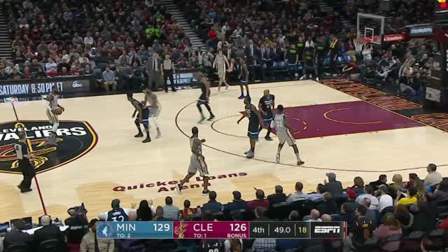 Berita video game recap NBA 2017-2018 antara Cleveland Cavaliers melawan Minnesota Timberwolves dengan skor 140-136.