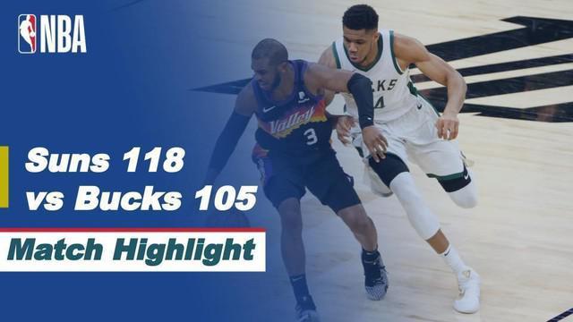 Berita video higlights pertandingan Final Playoff NBA 2021 antara Phoenix Suns melawan Milwaukee Bucks, Rabu (7/7/2021) pagi WIB.