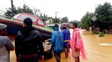 Kondisi banjir di Kalimantan Selatan