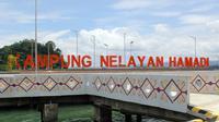 Kampung Nelayan Hamadi, Kota Jayapura. (Liputan6.com/Katharina Janur)