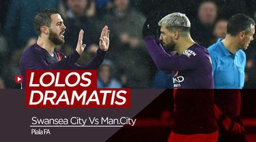 Berita Video Highlights Piala FA, Swansea City VS Manchester CIty