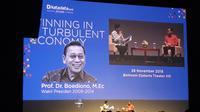 Wakil Presiden Indonesia ke-11, Boediono. Dok Meredeka.con/Dwi Aditya Putra