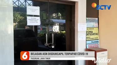 Kantor Dispendukcapil Kota Pasuruan, hingga Rabu siang masih belum beroperasi, menyusul meninggalnya seorang ASN akibat terpapar Covid-19, pekan lalu.