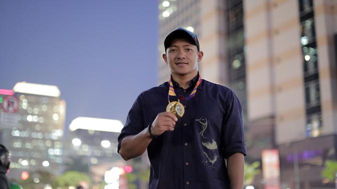Beby Willy Eka Paksi Tarigan, atlet polo air Indonesia yang sukses merebut emas di SEA Games 2019 (Marco Tampubolon/Liputan6.com)