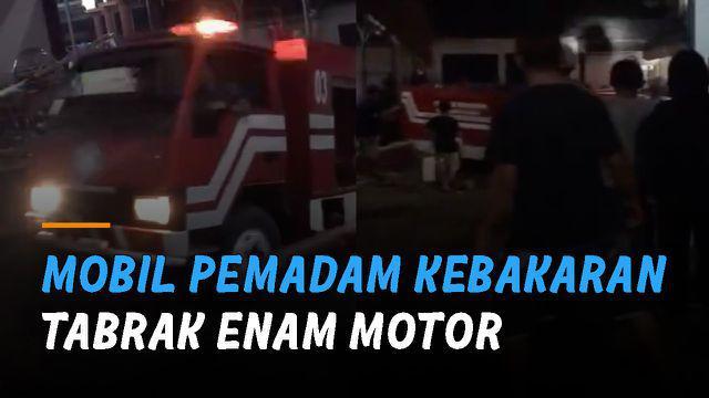 Beruntung tidak ada korban jiwa dalam insiden tersebut.