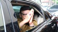 Mendagri, Tjahjo Kumolo usai meninjau kesiapan ruang pendaftaran bakal capres/cawapres Pemilu 2019 di Gedung KPU Pusat, Jakarta, Senin (6/8). Pendaftaran akan ditutup 10 Agustus mendatang. (Liputan6.com/Helmi Fithriansyah)