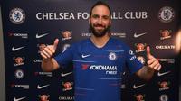 Gonzalo Higuain resmi menjadi pemain Chelsea. (dok. Chelsea FC)