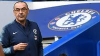 Chelsea memberi restu Maurizio Sarri untuk bergabung dengan Juventus pekan depan. (AFP/Ben Stansall)
