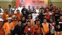 Manajemen Persija dan korwil The Jakmania bersilaturahmi di Kemayoran, Jakarta Pusat, Jumat (28/9/2018). (Bola.com/Benediktus Gerendo Pradigdo)