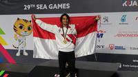 Gagarin Nathaniel berhasil meraih medali emas nomor 100 meter gaya dada putra SEA Games 2017 di National Aquatic Centre, Kuala Lumpur, Jumat (25/8/2017). (PRSI).