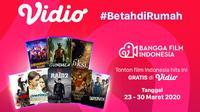 Betah di Rumah Dengan Nonton Film Indonesia Gratis Hanya di Vidio. sumberfoto: Vidio