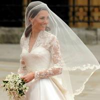 Kate Middleton di hari pernikahannya (AFP)
