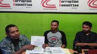 sejumlah aktivis di Sulsel ramai-ramai mendorong KPK tangani kasus dugaan korupsi pengadaan alat kesehatan di Kabupaten Pangkep (Liputan6.com/ Eka Hakim)