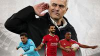 Ilustrasi - Jose Mourinho, Dele Alli, Mohamed Salah, Anthony Martial (Bola.com/Adreanus Titus)