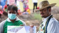 Menteri Pertanian Syahrul Yasin Limpo melakukan kunjungan kerja di Desa Gadabung Kecamatan Pandih Batu Kabupaten Pulang Pisau, Kalimantan Tengah, Rabu, 10 Februari 2021.