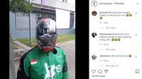 Pengemudi Ojek Online Ini Rasanya Seperti Menjadi Ironman (Instagram @dramaojol.id)