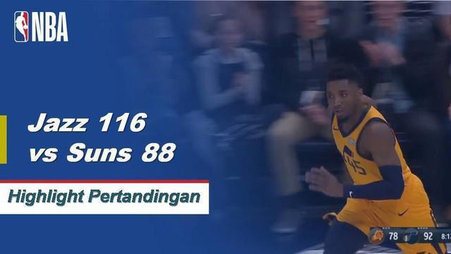 donovan Mitchell mencetak 21 poin dan menambahkan tiga rebound untuk membantu Utah mengamankan kemenangan atas Phoenix.