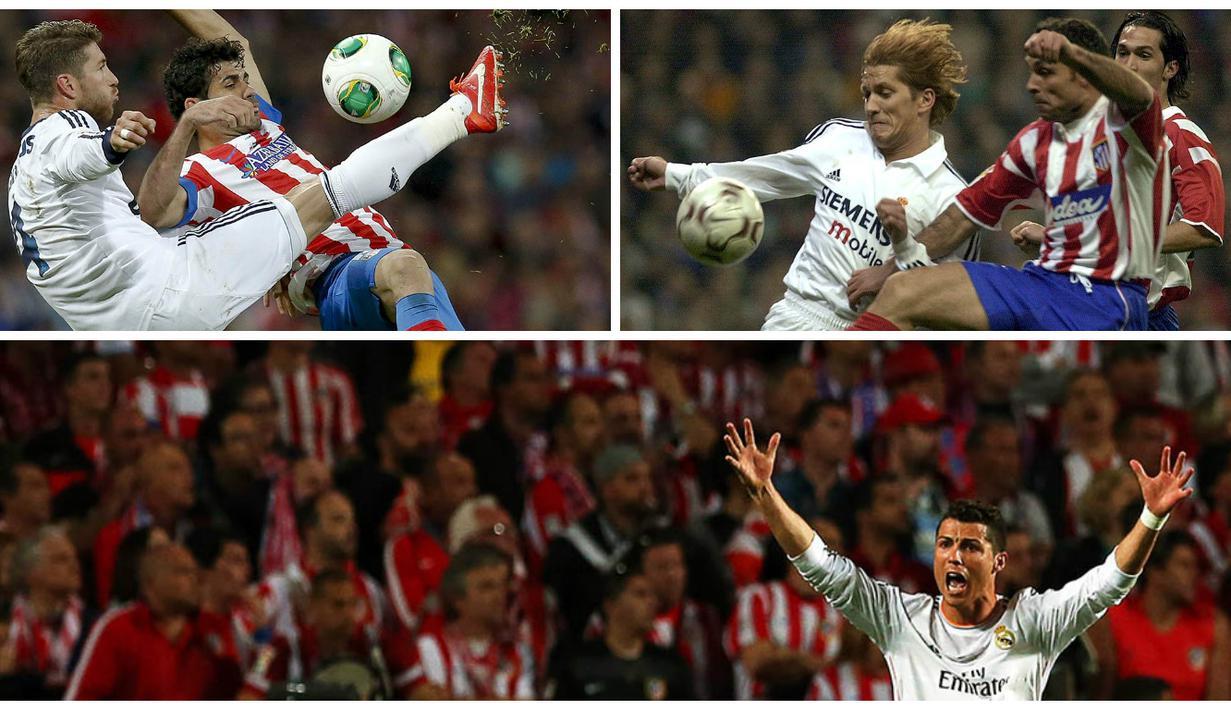 Berikut perjalanan kerasnya laga antara kedua rival sekota itu, Real Madrid dan Atletico Madrid. (EPA)