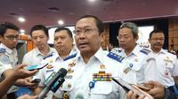 Direktur Jenderal Perhubungan Darat Kementerian Perhubungan Budi Setiyadi saat memberikan keterangan pers. Foto: Dok Merdeka.com