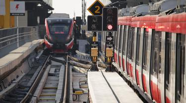 Uji coba penggunaan sistem persinyalan LRT Jabodebek