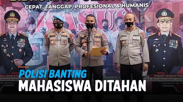 POLISI BANTING MAHASISWA SAAT DEMO AKHIRNYA DITAHAN
