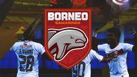 Liga 1 - Ilustrasi Logo Borneo FC Samarinda BRI Liga 1 (Bola.com/Adreanus Titus)