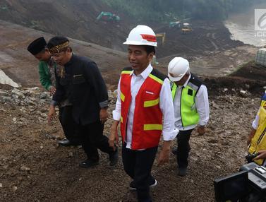 Jokowi Tinjau Proyek Terowongan Nanjung di Bandung