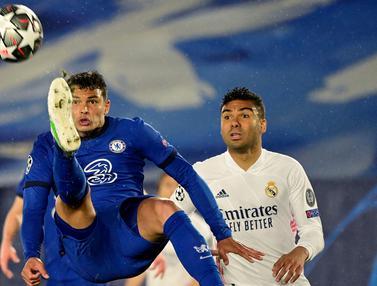 FOTO: Chelsea Curi Poin di Markas Real Madrid